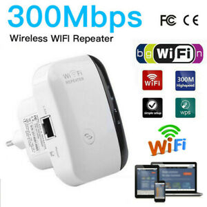 300Mbps Wireless-N AP Range 802.11 Wifi Repeater Signal Extender Booster US Ship