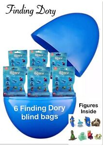 """Jumbo 8"""" PLASTIC SURPRISE Egg With 6 FINDING DORY BLIND BAGS WITH FIGURES"""