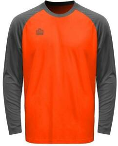 Admiral Sentry YOUTH Padded Elbow Soccer Goalie Jersey, Fluorescent Orange/Steel