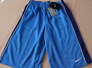 Boys Youth XLNIKE Dry Fit Shorts Two Blue Training Workout Basketball
