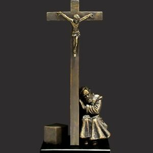 St. Padre Pio - I Absolve You (Miniature) Christian Sculpture by Timothy Schmalz