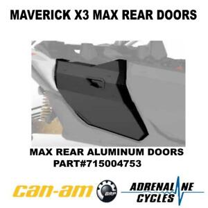 Can Am Maverick X3 Max rear full aluminum door doors kit OEM NEW #715004753