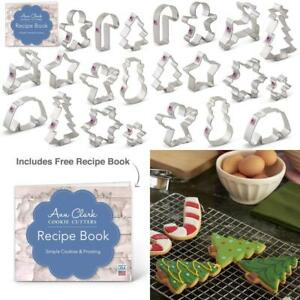 Winter Christmas Cookie Cutter Set with Recipe Book - 11 Piece - Snowflake...