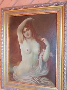 Russian Nympho (Ca 1850) Oil on Canvas