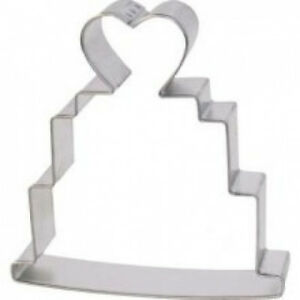 (1 Silver) - R and M Wedding Cake Cookie Cutter 10.2cm. Free Shipping