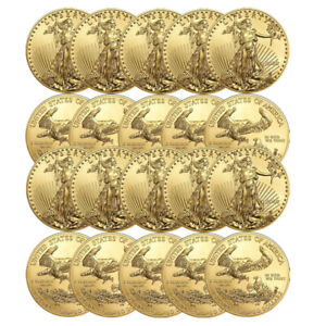 Lot of 20 Gold 2019 American Eagle 1 oz. $50 Gold Coins BANK WIRE Payment Only