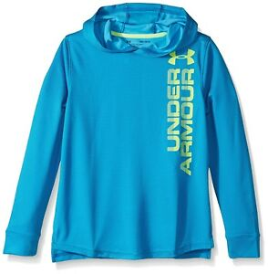 (X-Large Cruise Blue) - Under Armour Boys' Textured Tech Hoody. Brand New