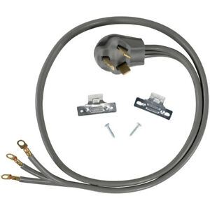 3 Prong  Universal Electric Dryer Power Cord  5 foot, 3 wire, 30 amp