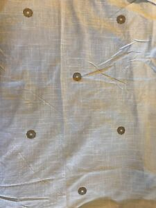 "Nate Berkus Set Of 2 Off White Cream Gold Dot Curtains Unlined 54""x84"""
