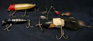 4 Vintage Fishing Lures Up For Bid-Antique Fishing Lures-Nice Condition (Lot #5)