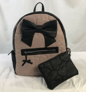 Betsey Johnson Large Backpack Diaper Bag With Matching Pouch NWT BM20610