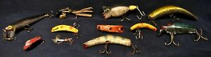 11 Vintage Fishing Lures Up For Bid-Antique Fishing Lures-Nice Condition