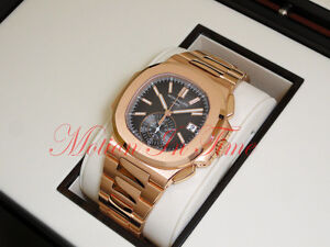 Patek Philippe 59801R-001 Nautilus 18K Rose Gold on Bracelet 40.5mm Chronograph