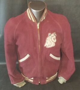 Vintage WSU Washington State University Cougars Wool Letterman Jacket Small