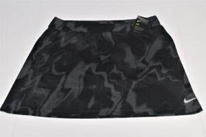New Womens Nike Dri Fit  DRY PRINTED XL  black slip on poly spandex golf skorts
