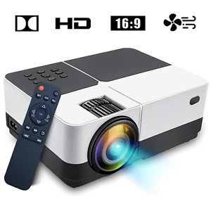 Super Clear Portable LED Projector Home Theater 2500 Lumens Movie TV Games 1080P