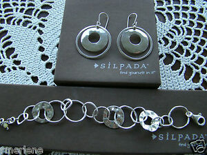 Silpada SET Sterling Silver Circle