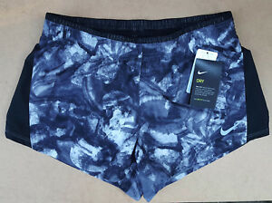 Nike Women's Dry-Fit 3.5 inch Training Running Shorts.-Black White Medium BNWT