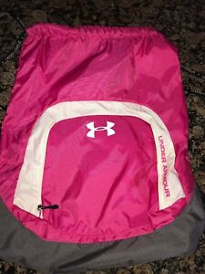 UNDER ARMOUR HOT PINK DOUBLE CORDED SACKPACK  BACKPACK  TOTE BAG