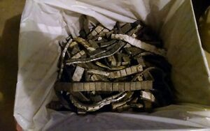 50Lbs Of Used Scrap LEAD stick on Wheel Weights. (Read item description)