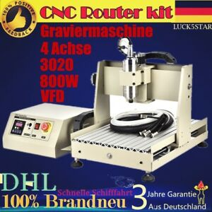 3040 4 Axis Router Engraver Engraving Drillling Carving Cutter 800W VFD DHL