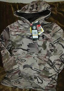 Under Armour Storm LOOSE Barren camo hunting hoodie BOY's small New with tags!