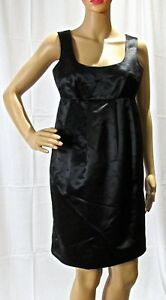MICHAEL KORS Black Empire Waist Pleated Evening Cocktail Party Dress Size 2