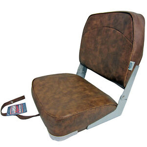 Wise New Fishing Boat Seat Chair BROWN Composite BaseBottom Fold Down