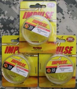 Northland ZooPlankton IMPULSE Ice Fishing 60 BAITS IBZP1D 10 1.25quot; Chartreuse