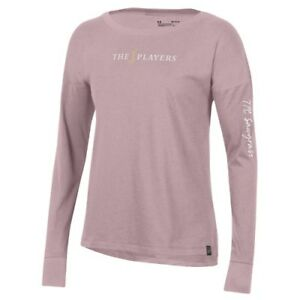 Under Armour THE PLAYERS Women's Pink Performance Cotton Long Sleeve T-Shirt