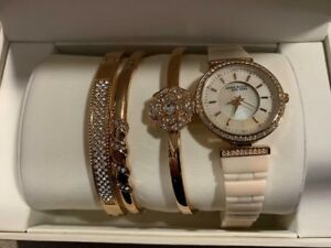 Anne Klein New York 122274RGST Women's 30mm Watch & Bracelet Set - SCUFFS