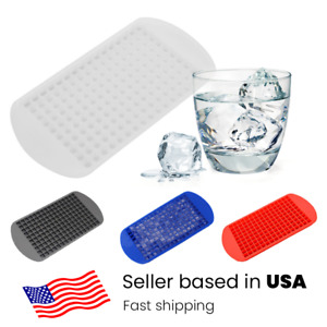 DIY 160 Grids Mini Small Ice Cube Tray Frozen Cubes Silicone Ice Maker Mold LJ