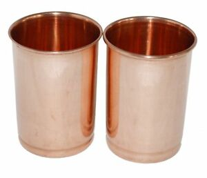 Pure Copper Glasses Set Tumblers Ayurvedic Water Drinking Glasses Free Shipping