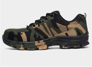 Camo Shoes Men's Plus Size Outdoor Steel Toe Cap Military Work & Safety Sports