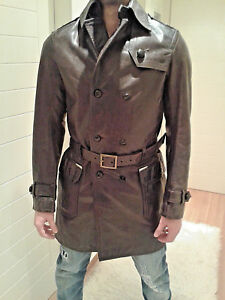 Authentic DSQUARED leather heavy coat 71PA007 tag.52