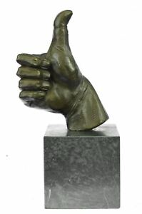 THUMBS UP Hand Gesture Bronze Metal Sculpture 10.5