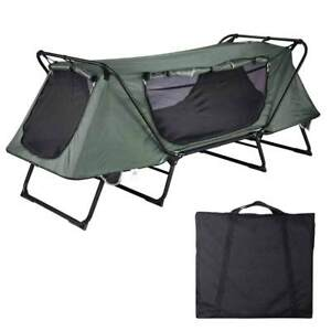 1 Person Folding Camping Tent Cot Outdoor Waterproof Hiking Bed Carry Bag 330lbs