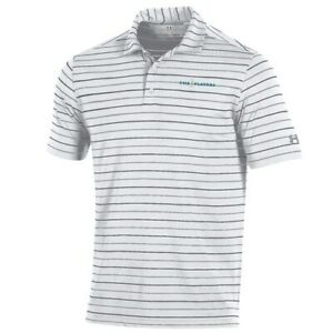 Under Armour WhiteGray THE PLAYERS Stripe 2.0 Performance Polo