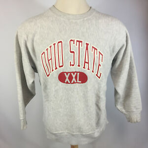 Rare Vintage 70s 80s Reverse Weave Ohio State College University Sweatshirt Gray