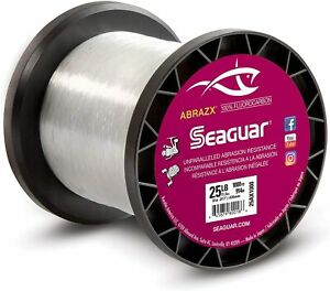 Seaguar Abrazx Fluorocarbon Clear Fishing Line 1000 Yards Ax1000 Big Game Line