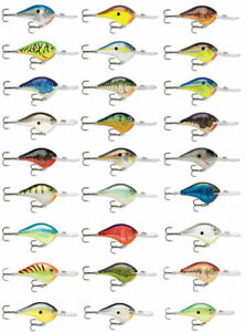 Rapala Dives-To Dt10 Balsa Wood Crankbait Bass Fishing Lures - 2 14