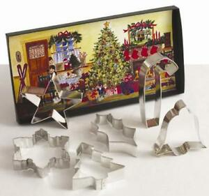 New Ann Clark Christmas Tree Snowflake Star Bell Holly COOKIE CUTTER Box Set USA