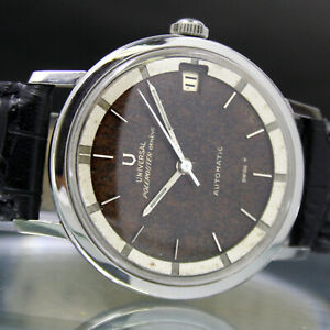UNIVERSAL Geneve Polerouter Microrotor Date Mens Tropical Dial Watch
