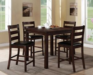 Modern Beautiful Dining Table Chair Set 5Pc Set Padded Dining Room Furniture