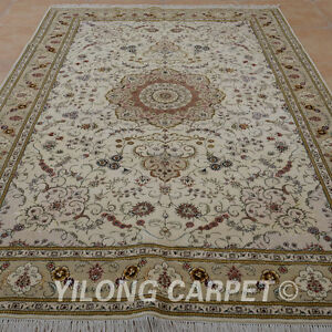 YILONG 6'x9' Persian HandKnotted Wool Silk Rug Oriental Home Design Carpet 1457