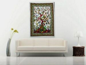 Indian Mandala Tree of Life Poster Size 30x40 Inche Cotton Tapestry Wall Hanging