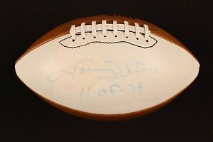 Johnny Unitas Signed Full Size White Panel Football Colts Steelers Louisville