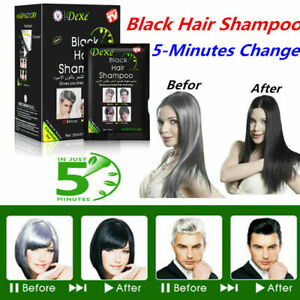 20bags Dexe Black Hair Shampoo Instant Hair Dye 5 Minutes Colorant DIY Fast Dye