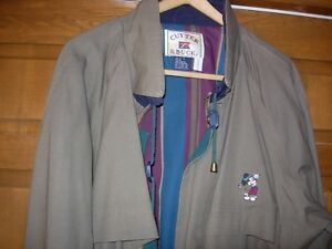 Cutter & Buck Large light brown jacket with Mickey Mouse logo men's