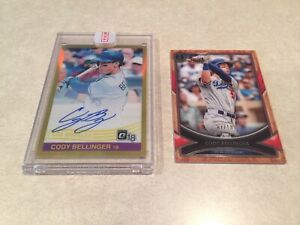 2018 Panini Donruss Optic Cody Bellinger Gold Auto 0110 Red Tribute Lot